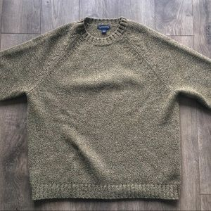 Lands End Knitted Wool Crew Neck Sweater